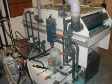 průběžná leptačka desek Rescotron, šíře 450 mm